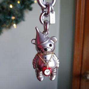Coach Wizard of Oz Tin Man Bear Keychain